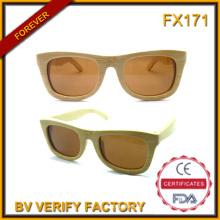 Óculos de sol de bambu & atacadista chinês óculos de sol
