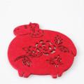 Sous-verres commémoratifs chinois en papier découpé rouge