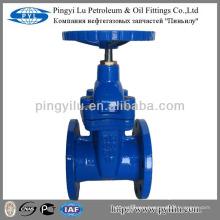 DIN standard soft sealing ductile iron gate valve non-rising stem PN16 Z45X-16