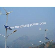 Solar de 300W y híbrido de viento viento de la calle luz y 1KW generador de turbina de viento de la en-rejilla para uso doméstico