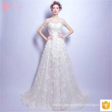 2017 Роскошные Новейшие Образцы Сучжоу Бальное Платье Свадебные Платья Ручной Работы Цветок Аппликация