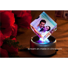 Crystal Cube Photo Frame for Christmas Gift