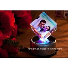 Moldura de cristal cubo para presente de Natal