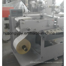 Plain Label Rotary Die Cutting with Turret Rewinder Machine