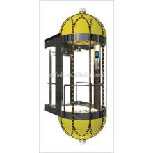 Sightseeing glass panoramic elevator roomless used Japan technology(FJGX8000)