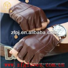Half figer leather gloves for gentleman