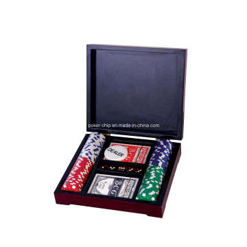 Chip de póquer en caja de madera (SY-S43)