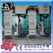 Máquina de bordado ultrasónico de la máquina de la configuración de los strass de la computadora de dos cabezas de HUAGUI