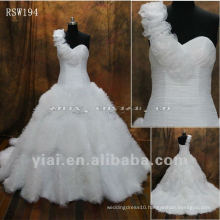 RSW194 Tulle Flowers Big Skirt Ball Gown Wedding Dress 2014
