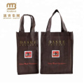 High Quality Custom Different Sizes Promotional Nonwoven Bottle Packaging Wine Tote Bag Wholesale