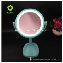 2018 nuevo diseño caliente luz LED espejo de aumento 5X cosmético