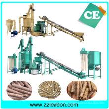 Línea de producción automática de pellets de madera de serrín de biomasa CE