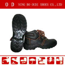 CE Certificated Black Leather Safety Shoes Abp7-1004