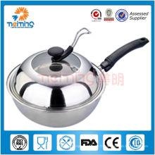 Poêle / poêle à frire antiadhésive en acier inoxydable de 28 cm