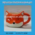 2016 best sales ceramic tissue holder in fox shape