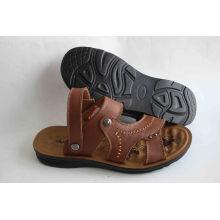 Классический стиль Мужчины Beach Shoes Leather Upper (SNB-14-017)
