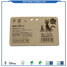 फ़ोल्डिंग कार्डस्टॉक पेपर फांसी टैग