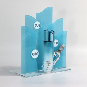 Apex helderblauwe acryl cosmetische make-up displaystandaard