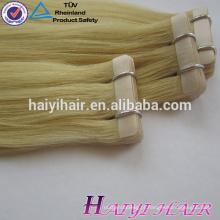Fita fácil do remy do Virgin da venda por atacado da categoria da cor 8A na extensão do cabelo