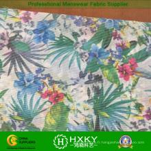 Tissu de mousseline de soie imprimé par transfert floral chaud pour des vêtements de dame