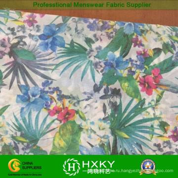 Горячая цветочные перевода печатных шелк шифон ткани для Леди одежды