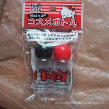 2PCS Hello Kitty bouchon en forme de champignon / ensemble de bouteille de voyage
