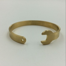 100% Original for Stainless Steel Bangle Gold Plated Wrench Tool Cuff Bracelet Bangle supply to Russian Federation Factories
