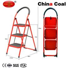 Yms203 Portable Wight plegable escalera de acero de 3 pasos