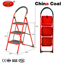Yms203 Portable Light Wight Folding 3 Steps Steel Ladder
