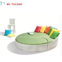 Hôtel en aluminium cadre en plein air en osier Sun Bed (4061B)