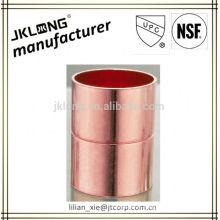 Conexão de tubos de cobre acoplamento igual