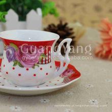 Incrível qualidade padrão exportação segurança pacote porcelana vermelho partido copos