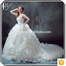 2017 Sexy V Neck Vestido De Noiva Robe De Mariage Lace Mermaid Ruffled Wedding Dress