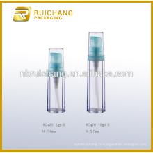 5ml / 10ml bouteille de pompe sans air, bouteille de pompe en plastique, bouteille de pompe sans air cosmétique