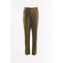 Ladies Dark Khaki straight trouser