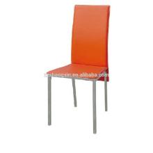 Cadeira vermelha luxuosa, encosto cadeira de jantar PVC para restaurante