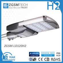 Luminária de iluminação pública LED com design de módulo de 120 W UL Dlc