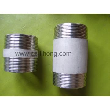 """Ailette en acier inoxydable 1/8 """"DIN 2999 Barrel Nipple From Pipe"""