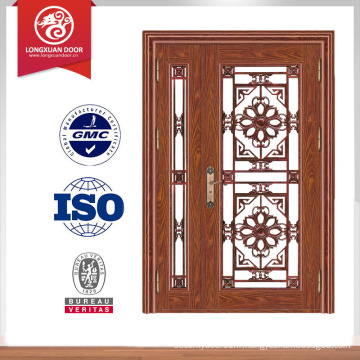 Porte double entrée principale porte de sécurité porte entrée principale porte en acier