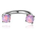 Fers à repasser internes de titane de la mode G23 avec la bijouterie de titane d'opale réglée par griffe