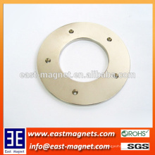 38sh Ring NdFeB Permanent Magnet with Five Countersunk Holes/custom ring magnet with hole