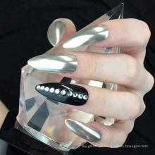 Pigmentos puros do Manicure do pó do prego do efeito do espelho do pó do cromo de prata