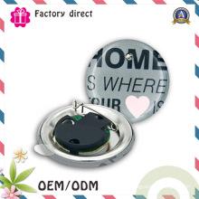 Круглый сделанный на заказ DIY проблескивая значок Pin кнопки СИД