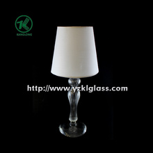 Single Glass Candle Holder for Party Decoration with Lamp (DIA9*28 lamp DAI14*13)