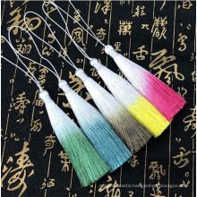 wholesale rayon silk gradient tassel dyed tassel in stock