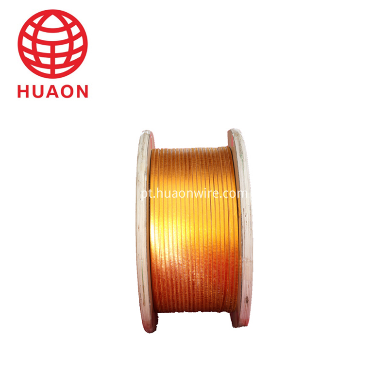 Film Covered Flat Copper Wire