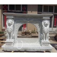 porcelaine fournisseur décor à la maison marbre pierre lion tête cheminée mantel