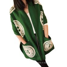 2016 Lady Fashion Pashmina Brosse à laine Brosse style