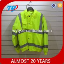 Hi visibility 2 tone with amber colorful safety reflective jacket