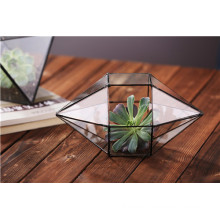 Home Geometric Glass Terrarium Flowers Decoration